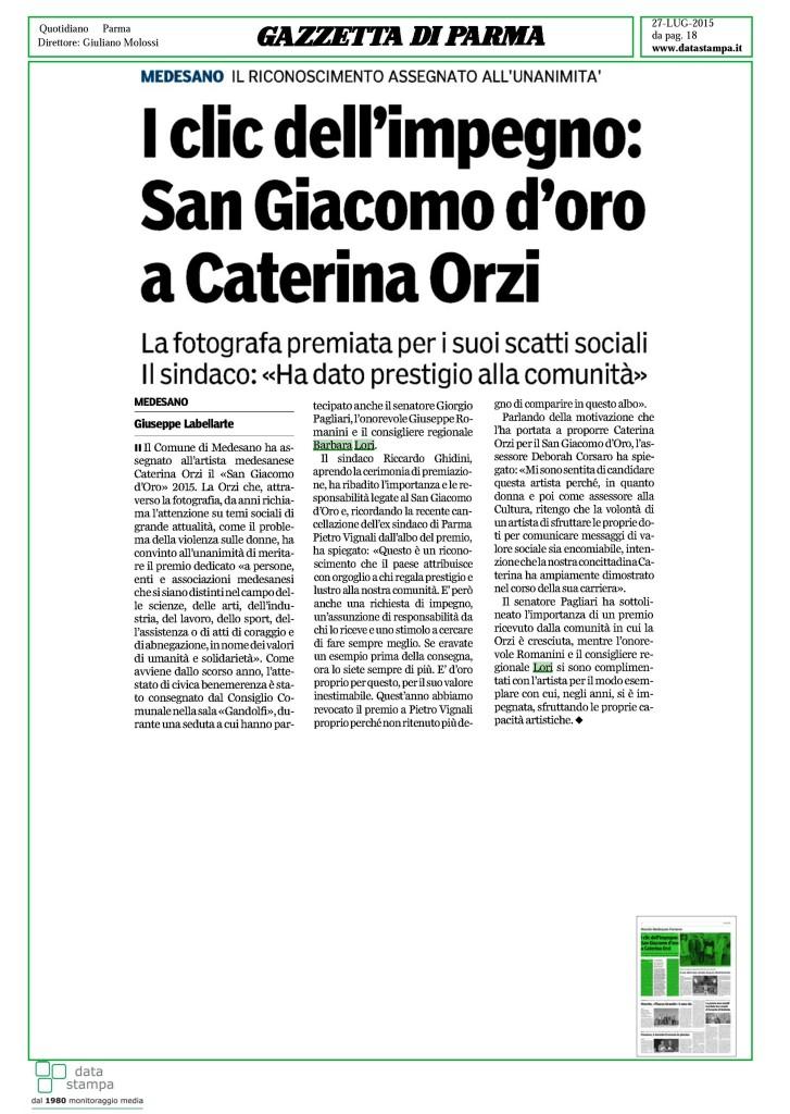 Caterina Orzi 27 lug 2015