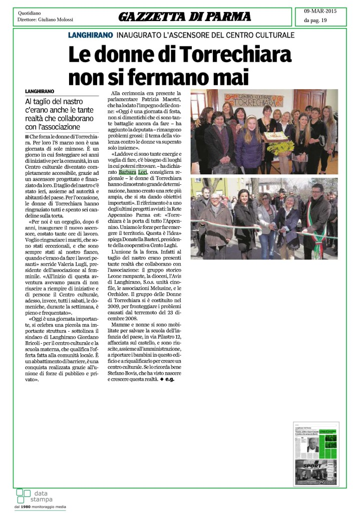 Centro cult Torrechiara 9 mar 2015