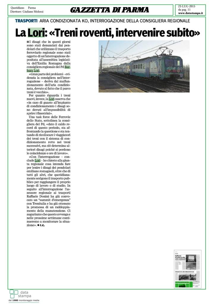 Treni 23 lug 2015