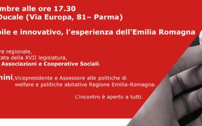 """""""Welfare sostenibile e innovativo. L'esperienza dell'Emilia Romagna"""""""