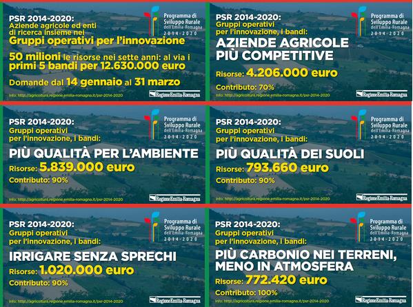 Agricoltura: dal Psr 2014-2020 oltre 12 milioni di euro per i primi cinque bandi