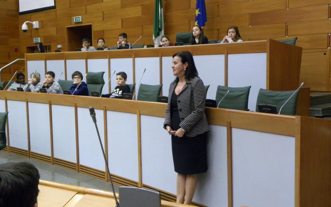 Visita in Assemblea legislativa dell'Istituto Comprensivo di Noceto (PR)