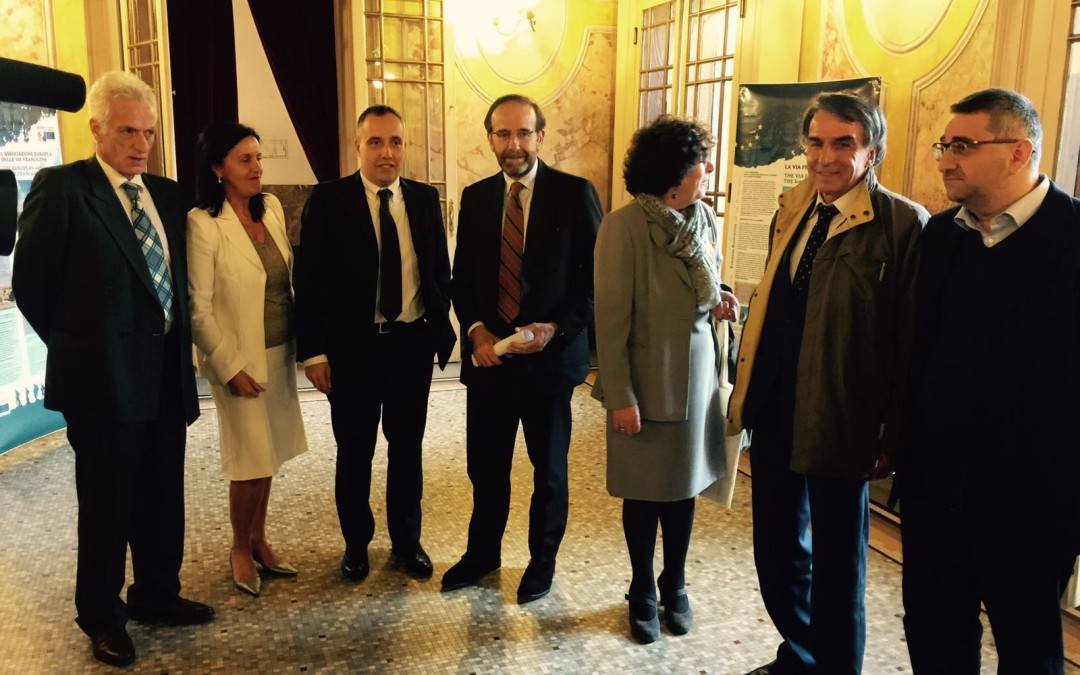 A Fidenza alle celebrazioni del XV anniversario di fondazione dell'Associazione Europea delle Vie Francigene  (AEVF)