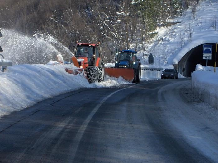 Emergenza neve,la Regione a fianco dei Comuni montani