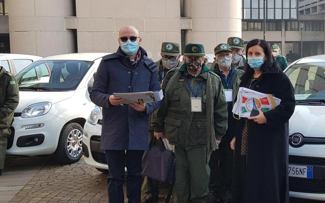 Dalla Regione le auto per le Guardie ecologiche volontarie