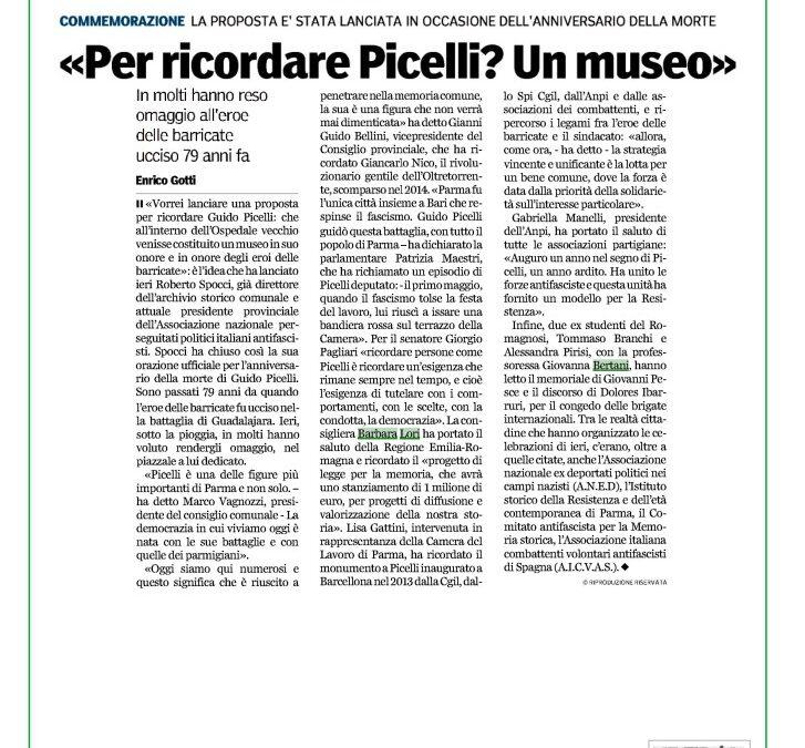 79° Anniversario della morte di Guido Picelli